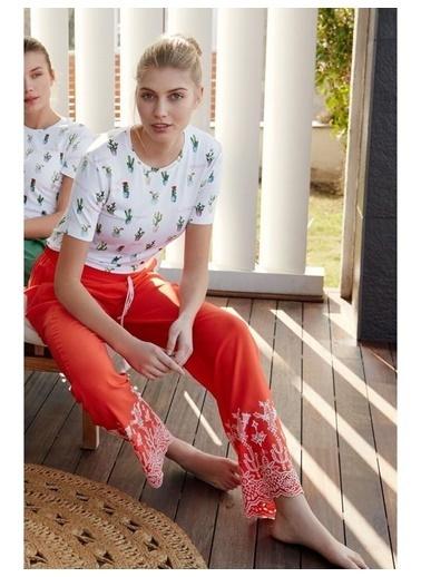 Feyza Pijama Takım Oranj